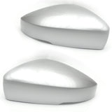 VW Polo 6r 6c Reflex Silver Wing Mirror Covers Caps Left & Right