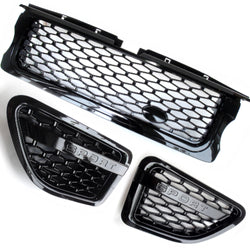 Range Rover Sport 05-09 Autobiography All Black Front Grille and Vents Kit