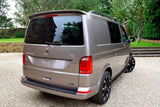VW T6 Transporter Caravelle Tailgate ABS Rear Bumper Protector Black