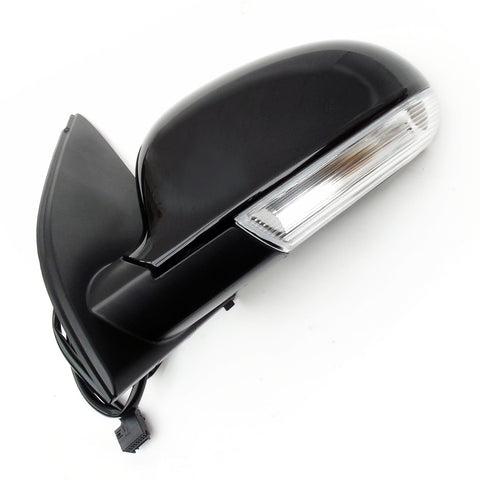 Complete Door Wing Mirror Left Side Metallic Black for VW Golf mk5
