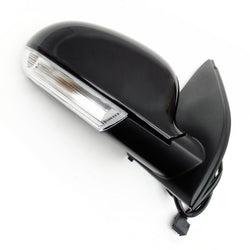 Complete Door Wing Mirror Right Side Metallic Black for VW Golf mk5