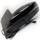 VW Polo 6r mk5 Electric Wing Mirror Left Passenger Side Deep Black