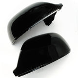 VW T5 T6 Pair of Gloss Black Door Wing Mirror Covers Caps Housings