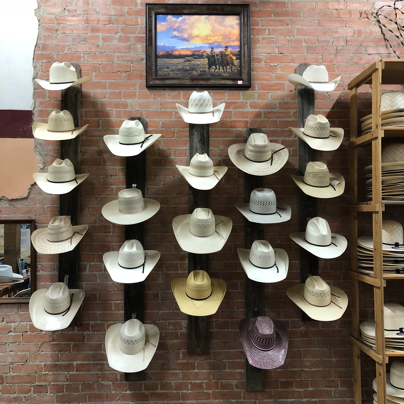 Atwood Hat Company Mens Las Vegas Pre Creased Straw Cowboy Hat