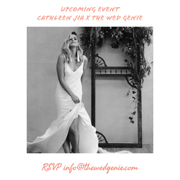 *Designer Event* Cathleen Jia x The Wed Genie
