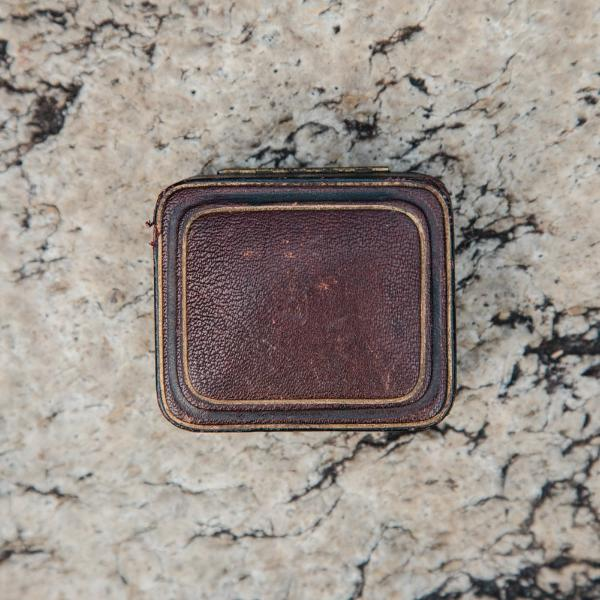 Vintage Brown Rectangular Jewelry Box