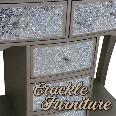 Crackle Mirrored Silver Furniture