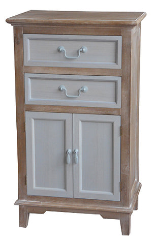 Cornwell Grey Shabby Chic Rustic Countryside 2 Door 2 Drawer Cabinet