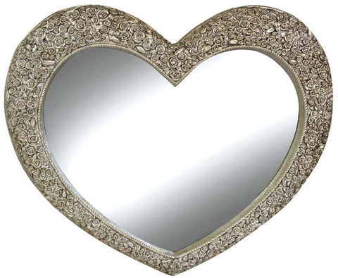 Champagne Roses Love Heart Shaped Mirror
