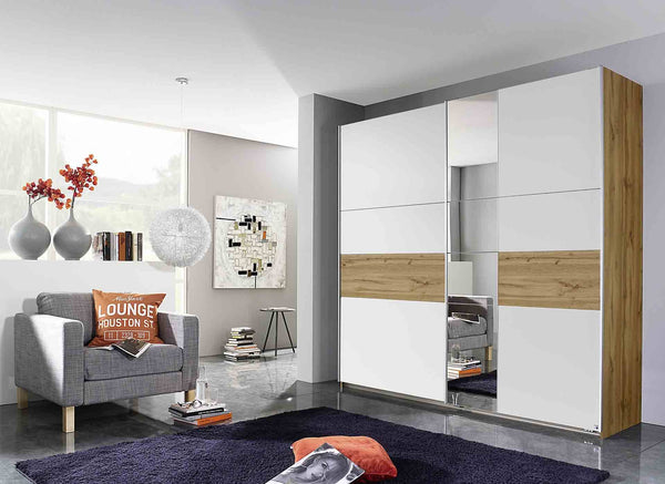 Kobi Korbach Alpine White & Wotan Oak Colour 2 Door Sliding Wardrobe