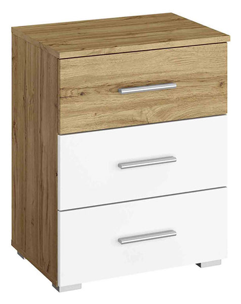 Kobi Korbach Alpine White & Wotan Oak Colour 3 Drawer Chest