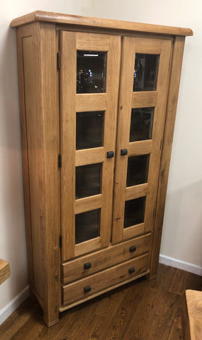 Weathered Oak Display Cabinet