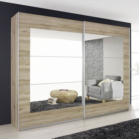 Alegro 2 Mirror Sliding Door Wardrobe