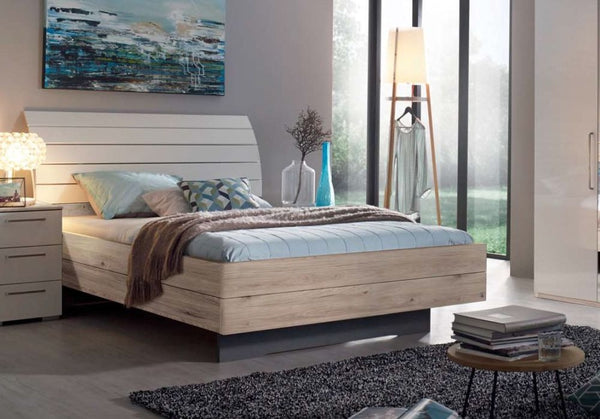 Bliss Modern Panel Bed with Headboard