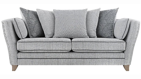 Anthea Fabric 3 Seater Pillow Back Sofa