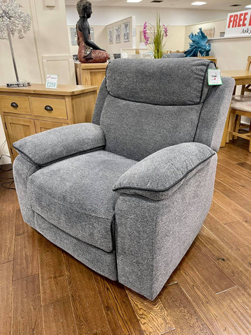 Jacob Recliner Grey Fabric Chair