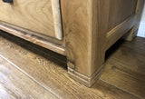 Weathered Oak 9 Drawer Low Boy Sideboard