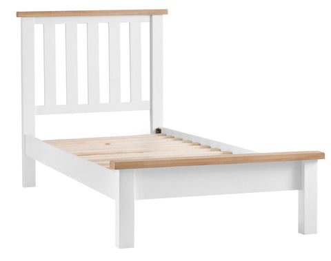 Oak & Hardwood White Single Bed