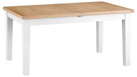 1.6m Oak & Hardwood White Butterfly Extending Table