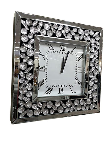 Moon Crystal Mirrored Wall Clock
