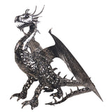 Large Hand Made Metal Dragon Sculpture