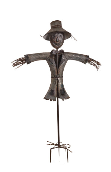 Unique Hand Made Metal Scarecrow Sculpture