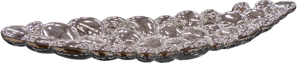 Silver Electroplated Ceramic Long Bubble Dish Tray