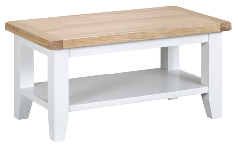 Oak & Hardwood White Small Coffee Table