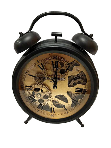 Black Skeleton Mantle Faux Alarm Clock