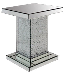 Crystal Decor Floating Jewel Diamante Gem Mirrored Pedestal Pillar