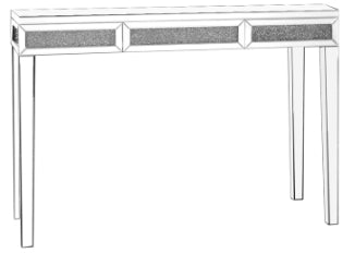 Diamante Crystal Mirrored Console Table
