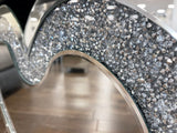 Diamante Crystal Love Heart Mirrored Console Table