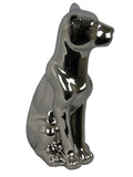Silver Electroplated Ceramic Dog Ornament