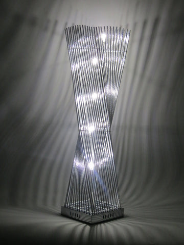 Cayan Tower Metal Silver Wire Aluminium LED Tower Table Lamp