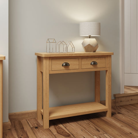 Oak & Hardwood Rustic Console Table
