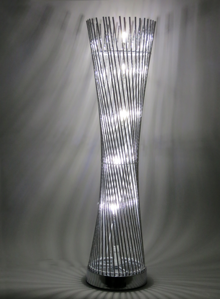 Diablo Silver Wire Aluminium Metal Table Tower LED Lamp