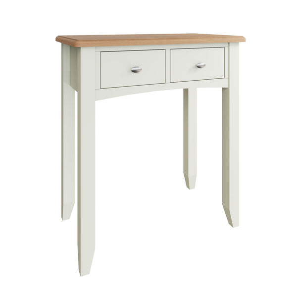 Fresh White with Oak Top Dressing Table