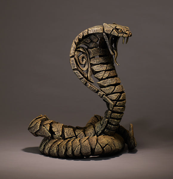 Sand Cobra Snake Edge Sculpture Hand Painted Sculptured Ornament Figurine