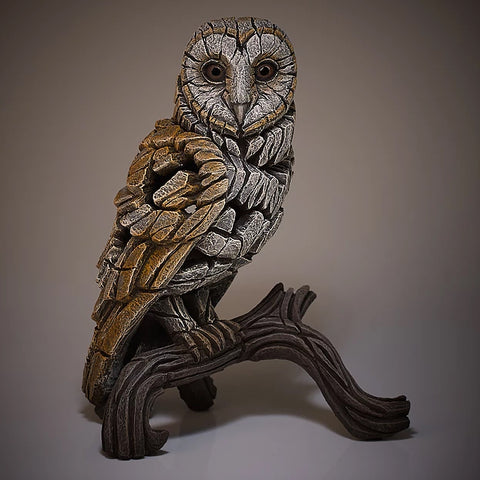 Barn Owl Figurine Sculptured Ornament (Traditional)