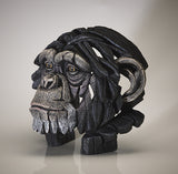 Edge Sculpture Chimpanzee Monkey Chimp Bust Head Ornament Figurine Hand Painted Sculpture