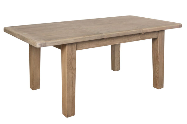 Warm Rustic Oak Effect 1.8m Extending Dining Table