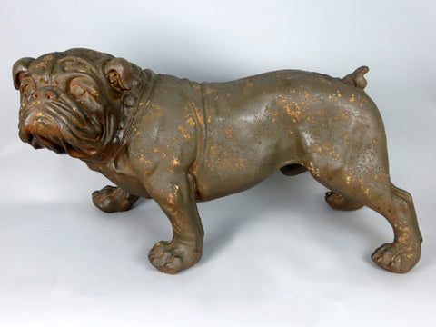 Rusty the Rustic Rust Effect Brown Bulldog Garden Ornament Figurine