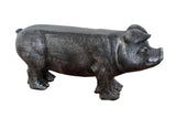 Grey Rustic Small Pig Bench