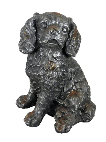 Silver Sitting Rust Effect King Charles Spaniel Ornament