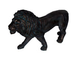Standing Brass Effect Lion Garden Ornament
