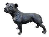 Grey Stone Effect Staffordshire Bull Terrier Ornament