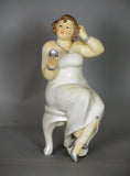 Fiorella Tuttodonna Curvy Buxom Busty Lady Woman Ornament Figurine with Pocket Mirror