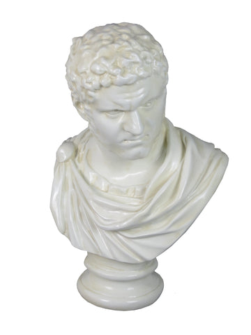White Roman Bust of Caracalla Ornament