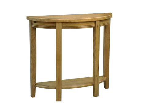 Loire French Oak Half Moon Curved Console Table