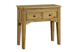 Loire French Oak Beaded Small Side Table Console Table